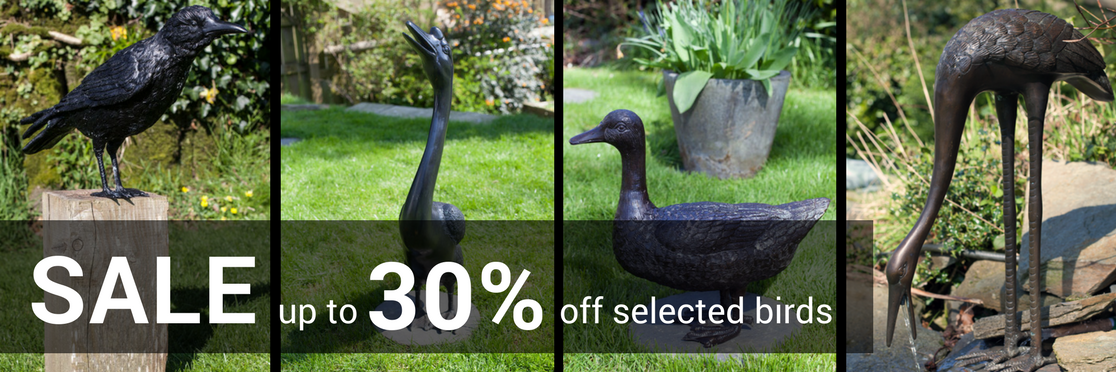 Sale bronze bird statues and fountains
