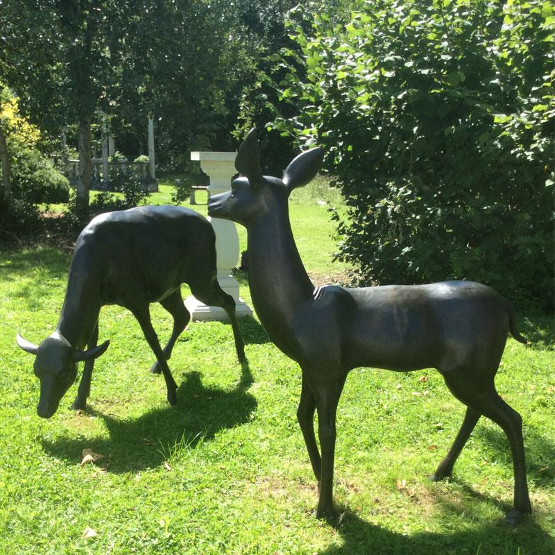 animal bronzes at chilstone show gardens